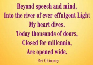 Beyond Speech Poem by Sri Chinmoy